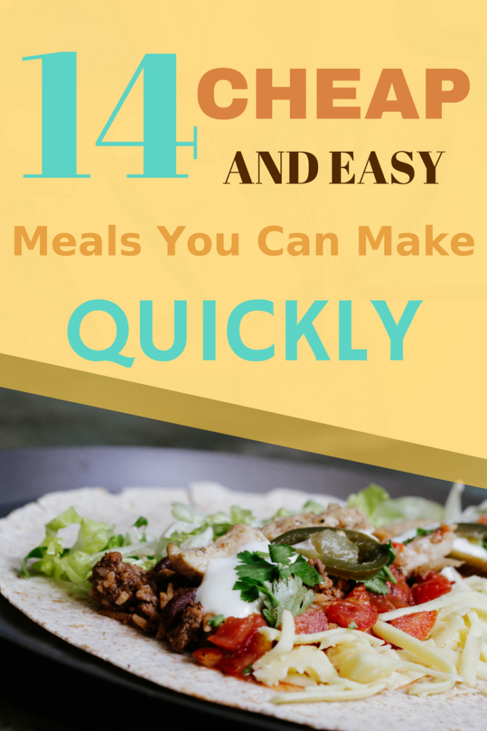 These cheap and easy meals are a real time saver. They'll even save you money. Best of all they taste great. | saving money | recipes on a budget | #budget meals #recipes #quick and easy