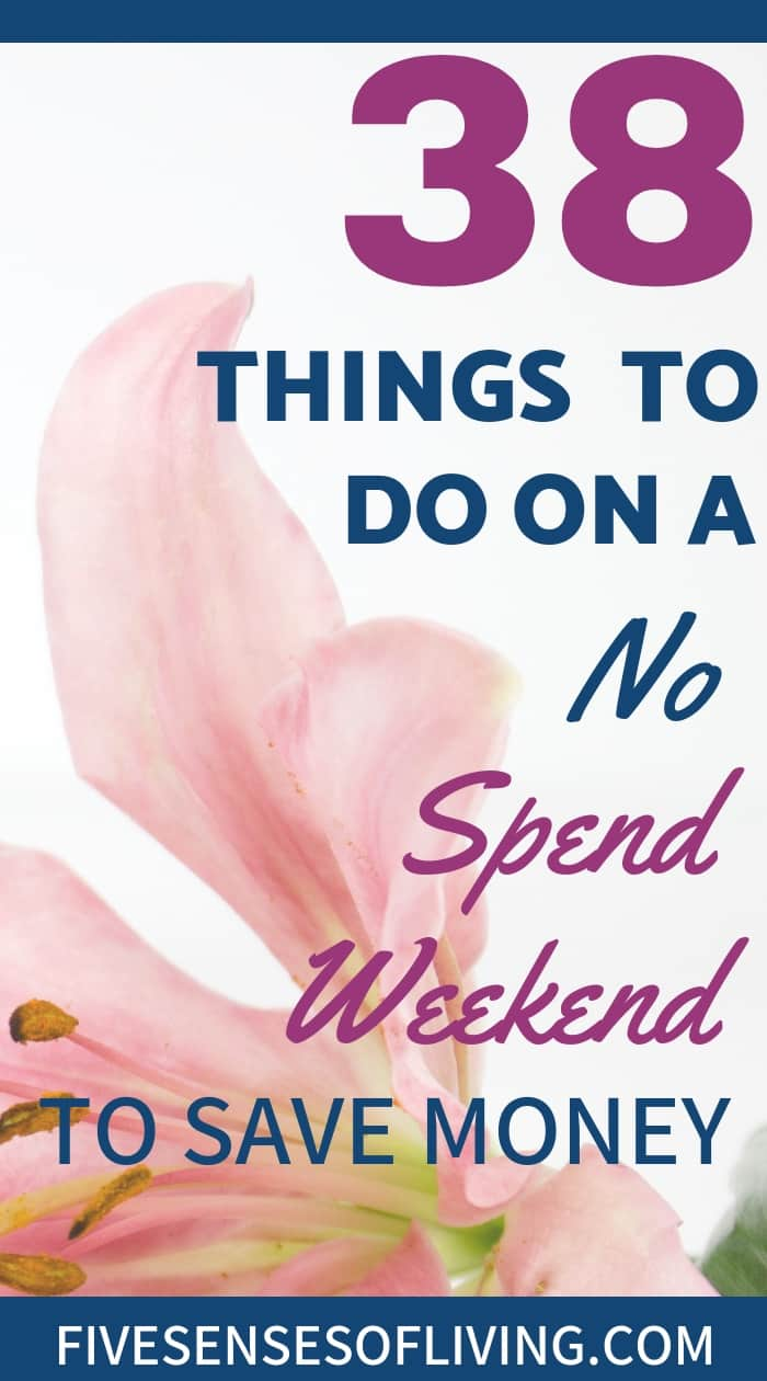 ooking to have a no spend weekend this weekend? Whether it;s as a couple, with kids or with friends you'll love these fun ideas. Most can be done in the summer, fall, or winter. So save some money and check out this awesome list of things to do on a no spend weekend. #nospendweekend #thingstodoona #savemoney #nospendweekendwithkids #nospendweekendwithfriends #nospendweekendcouples