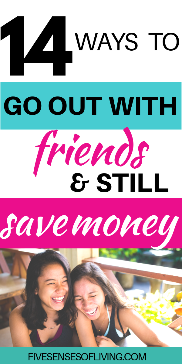 Do you have a fear of missing out on fun? Learn these 14 tips on how to save money when going out with friends. #savemoney #goingoutwithfriends #fearofmissingout #fomo