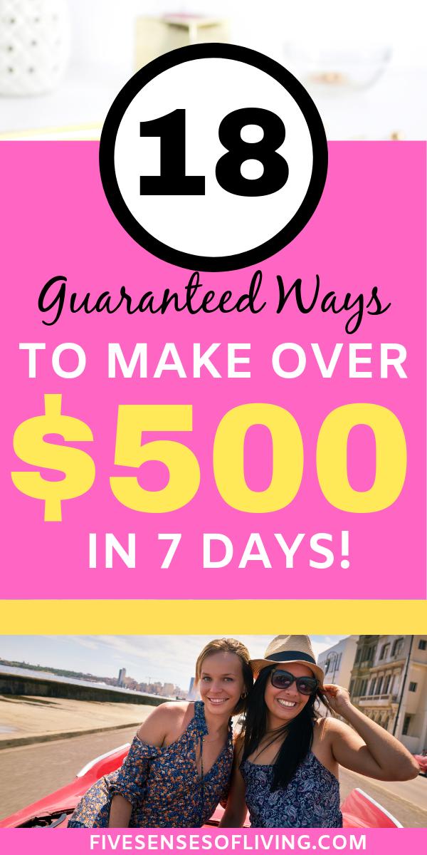 Ways to Make fast money