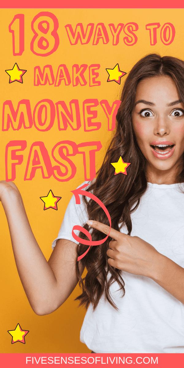 How to make cash fast, side income, side gig, and side hustling-18 easy ways #makecashfast #sidehustle #sideincome