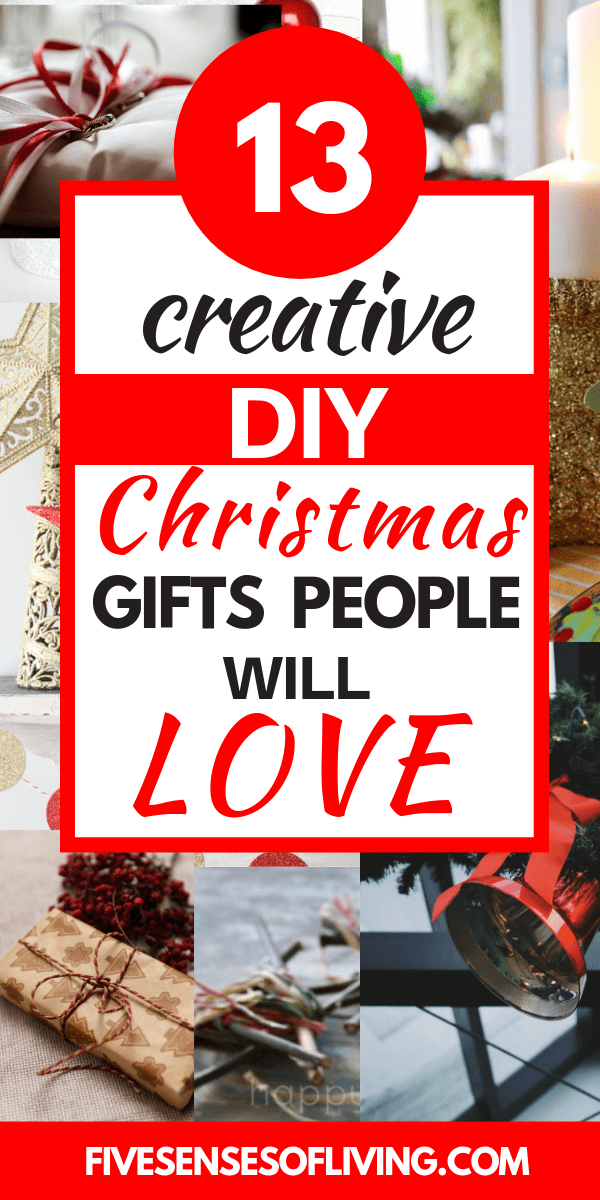 13 DIY Christmas gifts that are sure to please.  DIY Christmas gifts are the best because they are thoughtful and come from you!!  These DIY gifts are gifts your friends and family will actually enjoy #homemadegifts