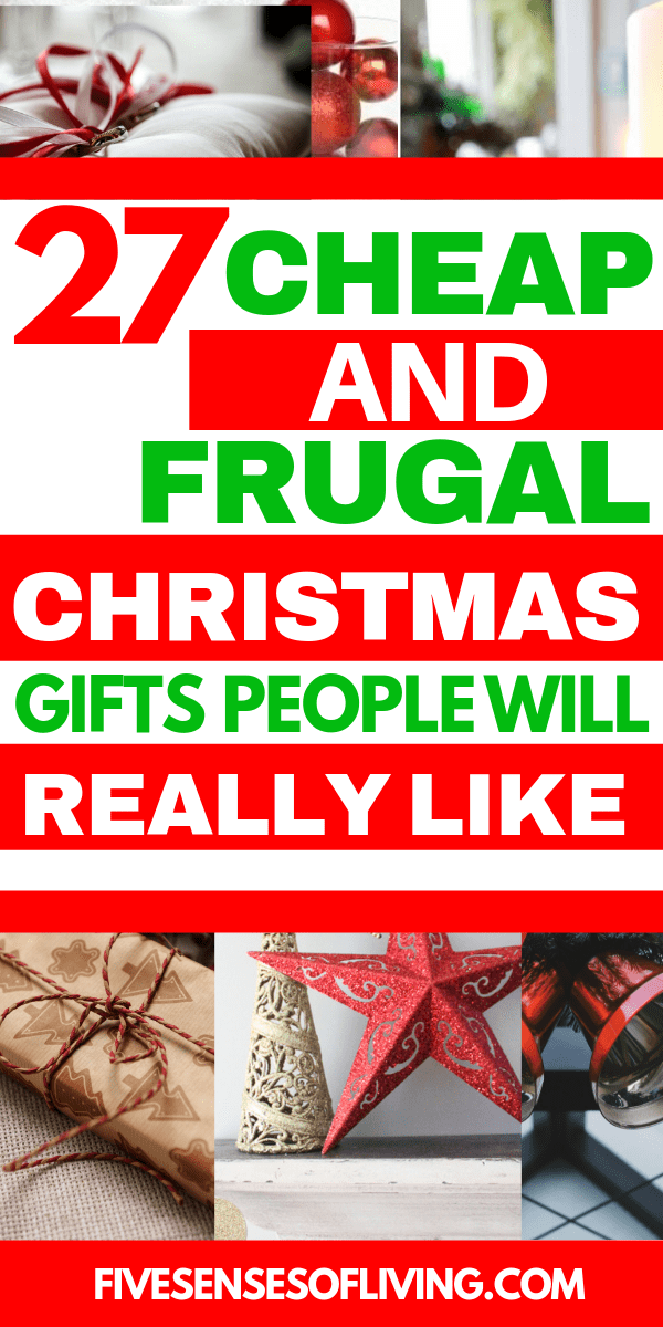 These are the absolute best gifts to give this holiday season. These are perfect when your budget is a bit tight.  Cheap and Frugal Christmas Gift Giving on a budget