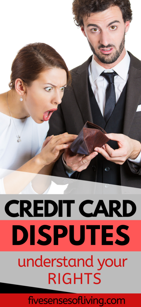 credit card disputes