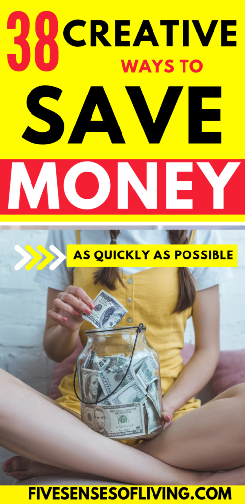 creative ways to save money