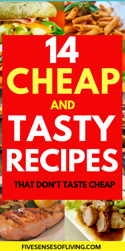 14 food recipes that are cheap and easy