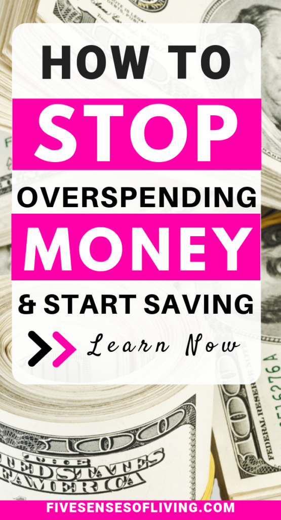 how to stop overspending money